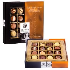 Trüffel Pralinen aus Vollmilchschokolade und weißer Schokolade