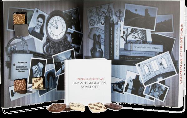 """Adventskalender Criminal Christmas """"Das Schokoladenkomplott"""" (mit Buch - gefüllt mit Pecarée)"""