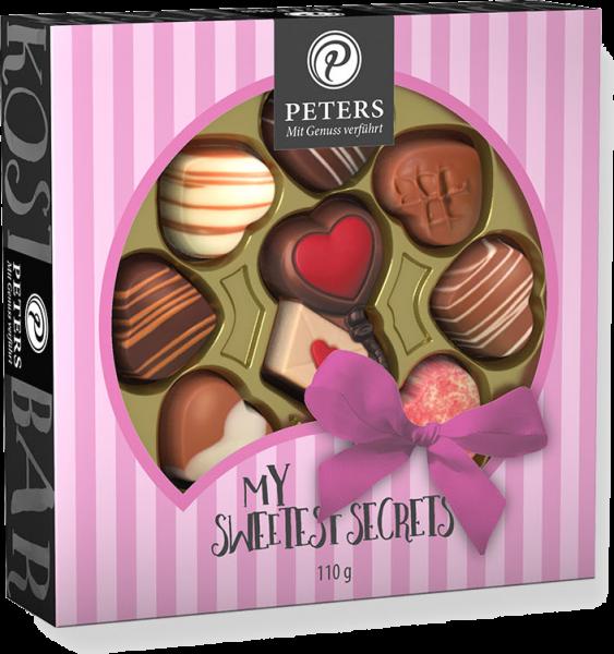 """Herz-Pralinen mit Schokoladen Herz """"My Sweetest Secret"""""""