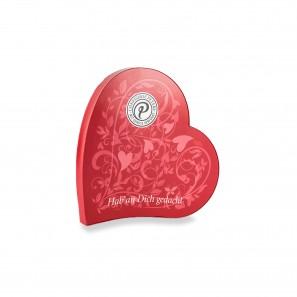 Pralinen in Herzdose zu Muttertag und Valentinstag