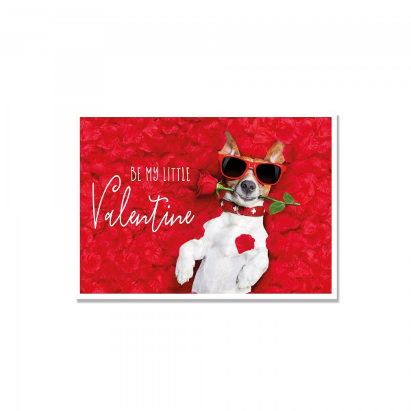 "Valentinskarte ""be my little Valentine"""