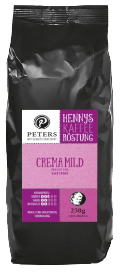 Henny's Röstung   Kaffee - Crema Mild 250g