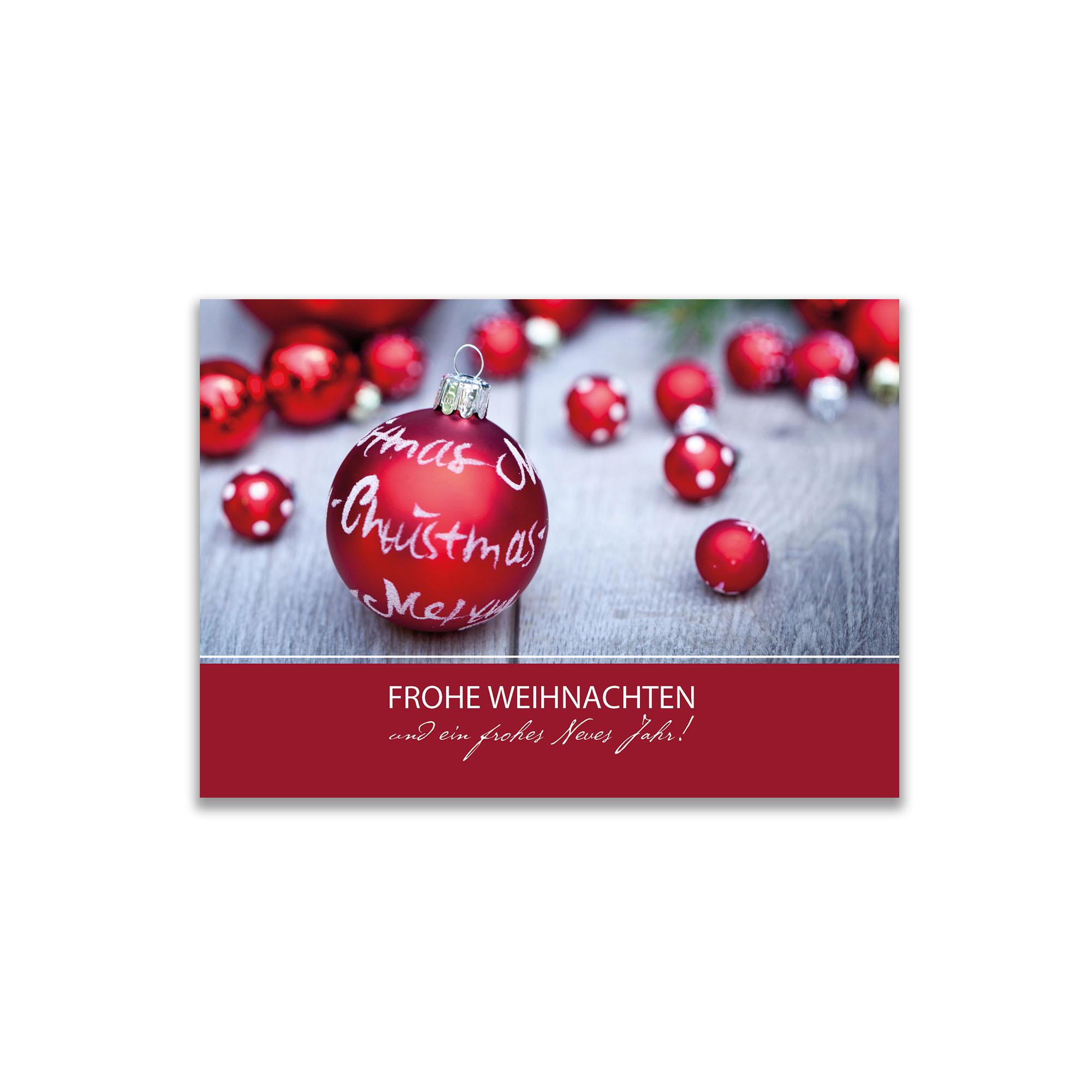 Gru karte frohe weihnachten l peters pralinen peters pralinen - Weihnachtskugel englisch ...
