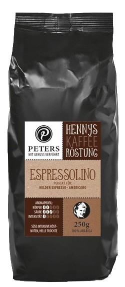 Henny's Röstung   Kaffee - Espressolino 250g
