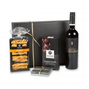 Präsentset Wein, Käse und Schokolade