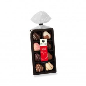 Trüffel Schokolade in Herzform