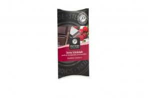 Stevia Schokolade Zartbitter-Cranberry